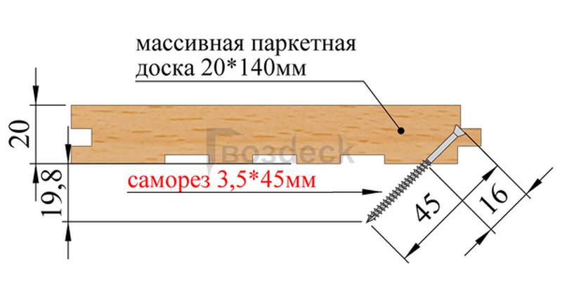 Монтаж паркетной доски и доски пола