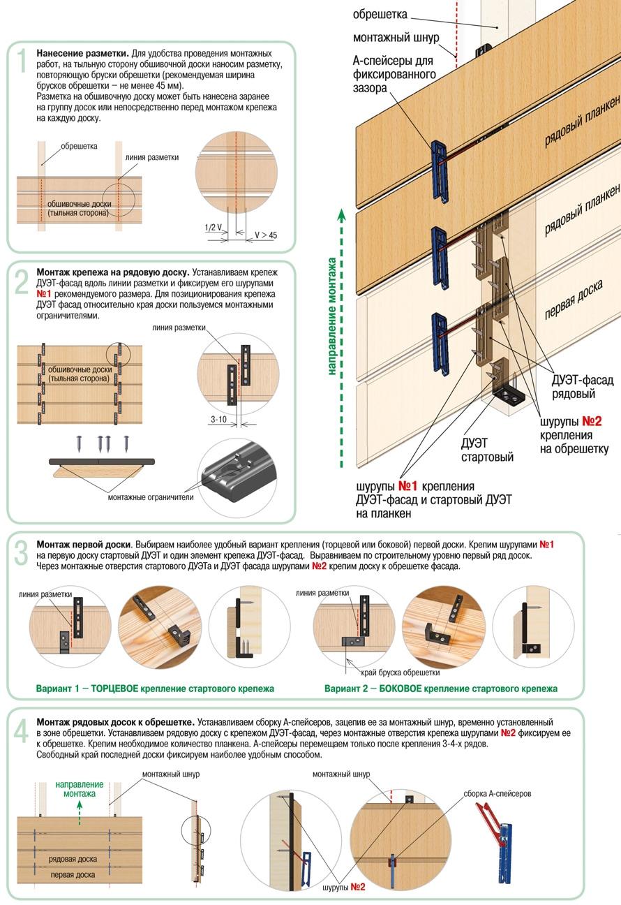 ДУЭТ ФАСАД (DUET FASADE) - крепеж для фасада и забора